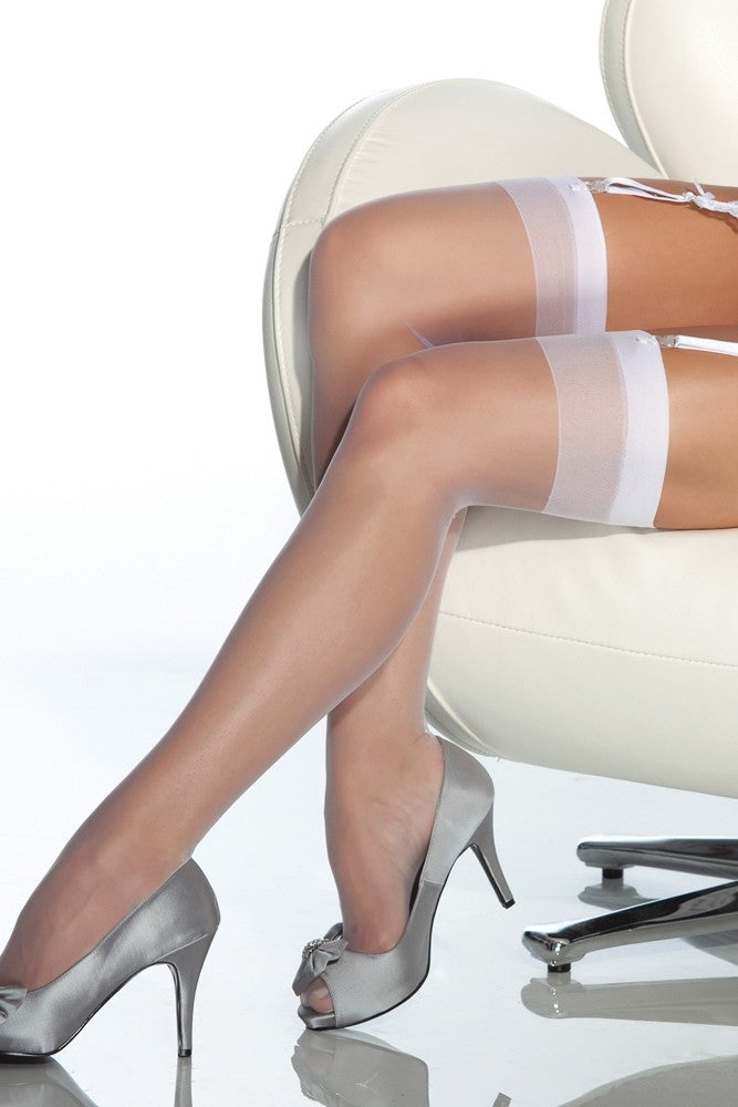 Sheer White Thigh Highs in OS