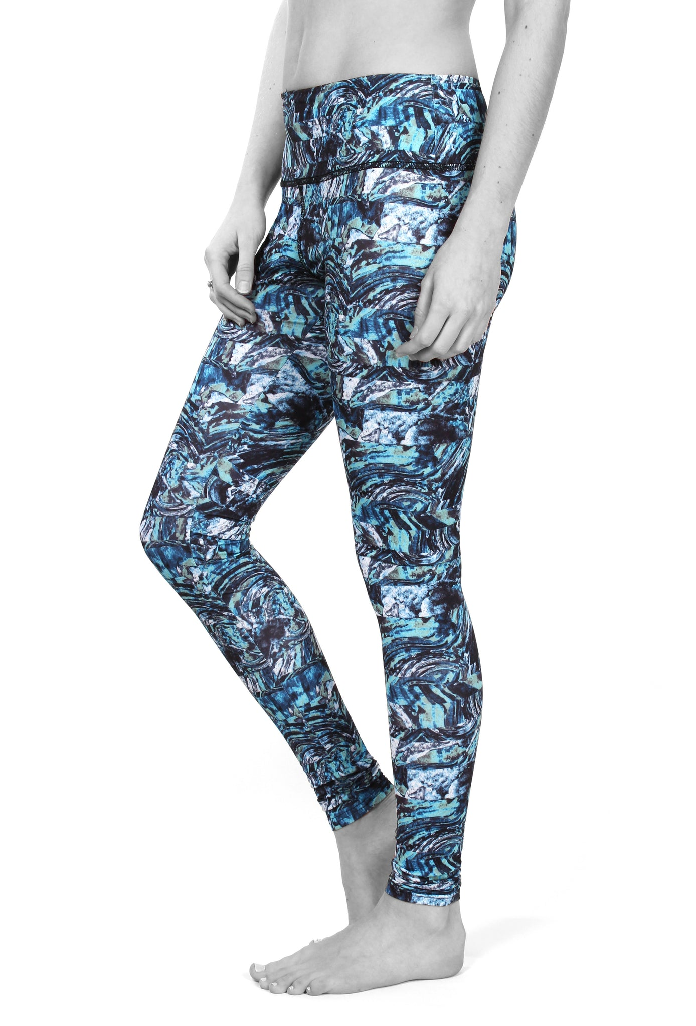 Marble wave legging
