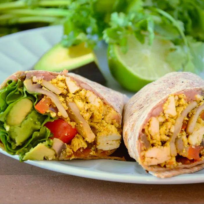 Healthy Vegan Breakfast Burrito