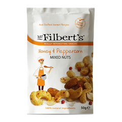 MR. FILBERT'S | honey & peppercorn mixed nuts