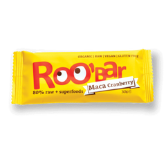 ROOBAR | maca cranberry raw fruit bar