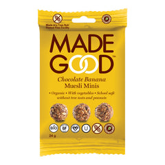 MADE GOOD | chocolate banana granola minis