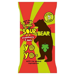 BEAR YO-YO'S | super sour strawberry & apple fruit rolls