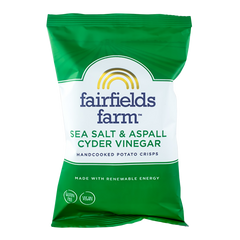 FAIRFIELDS | sea salt & aspal cyder vinegar potato crisps (GF • V)