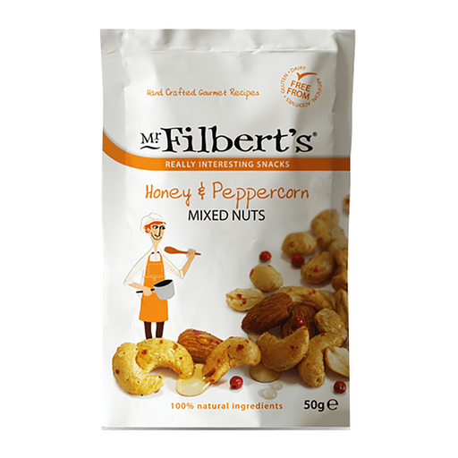 Mr Filbert's Honey & Peppercorn Mixed Nuts 50g