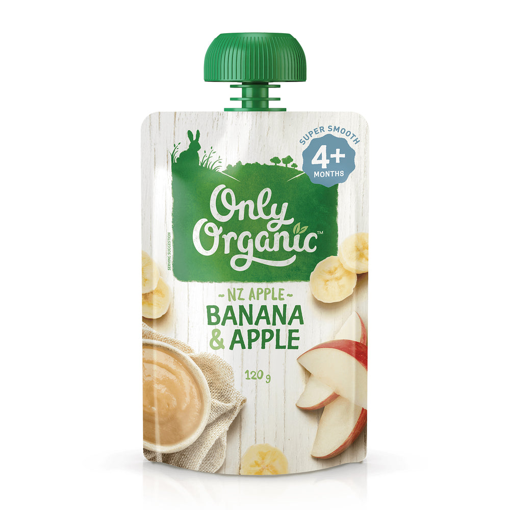 Only Organic Banana& Apple 120g (4+ mos)
