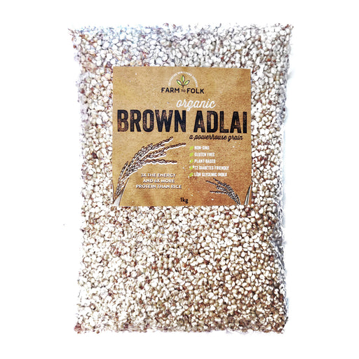 Farm to Folk Organic Brown Adlai 1kg