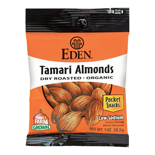 Eden Tamari Almonds Pocket Snacks 28g
