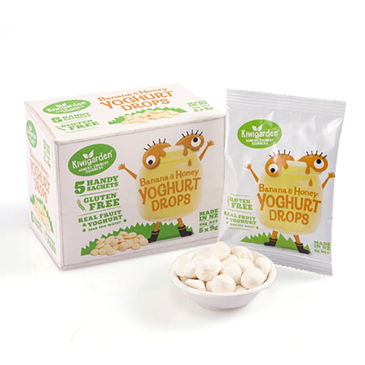 Kiwigarden Banana & Honey Yoghurt Drops (5 x 9g)