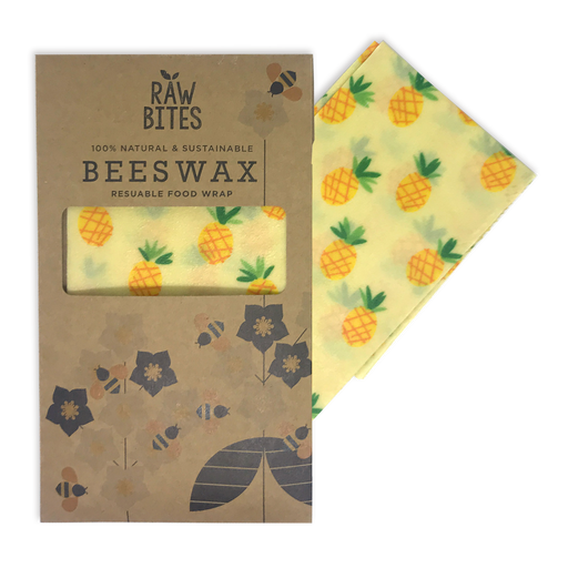 Raw Bites Beeswax Wrap - Pineapple (Set of 3)
