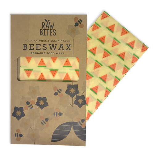 Raw Bites Beeswax Wrap - Watermelon (Set of 3)