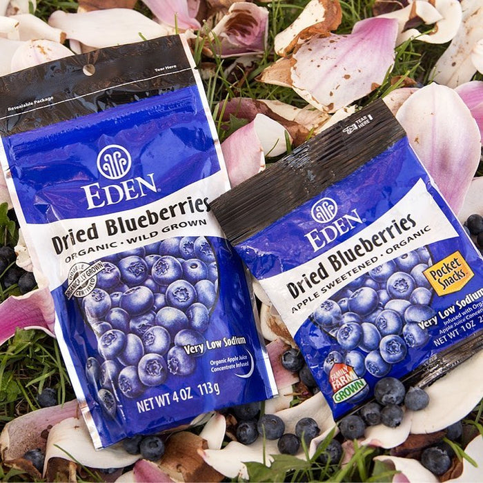 Eden Dried Dried Wild Blueberries Pocket Snacks 28g