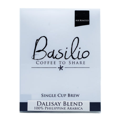Basilio Single Cup Brew Dalisay Blend (7 Drip Bags, 100% Arabica)