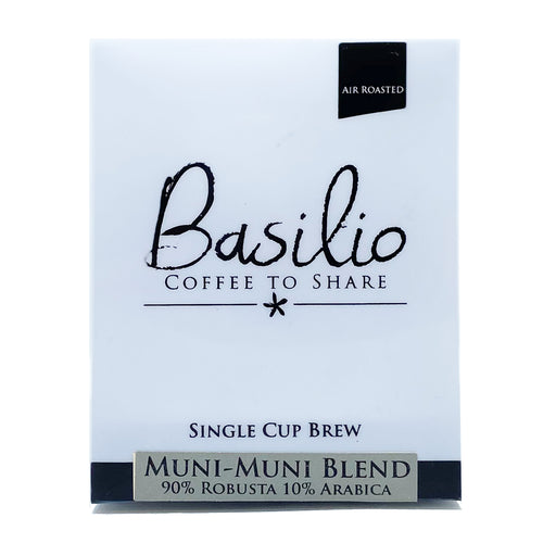 Basilio Single Cup Brew Muni-Muni Blend (7 Drip Bags, 100% Arabica)