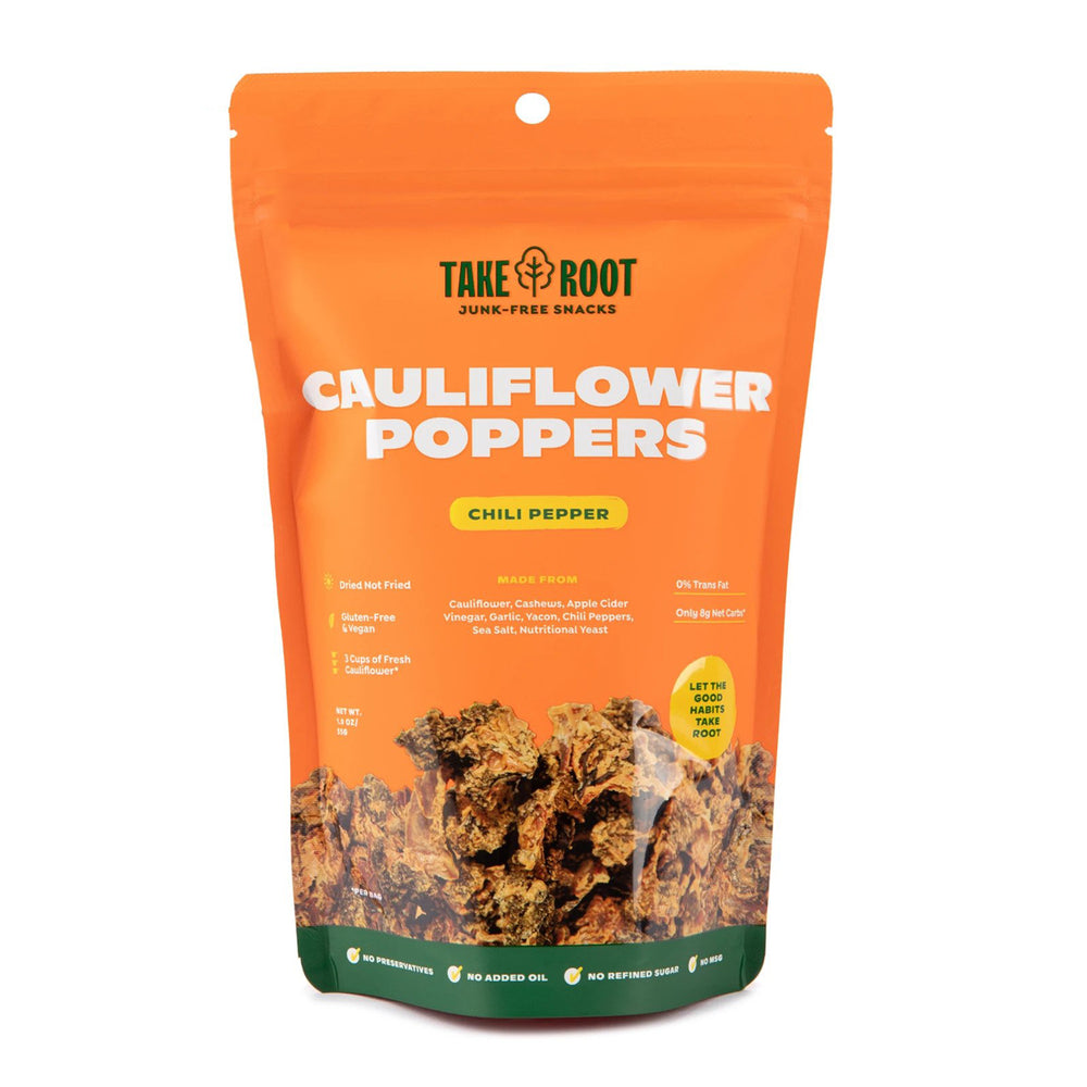 Take Root Spicy Chili Pepper Cauliflower Poppers 55g