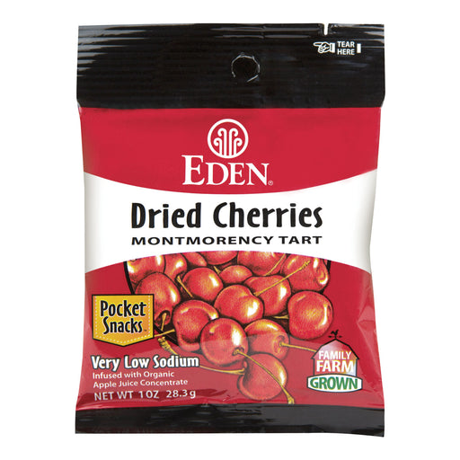 Eden Dried Montmorency Cherries Pocket Snacks 28g