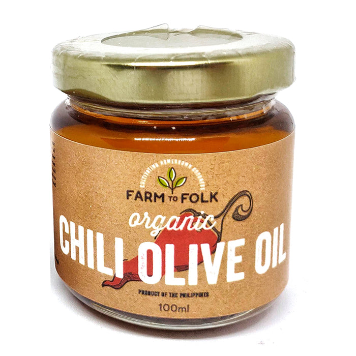Farm to Folk Organic Chili Olive Oil 100ml