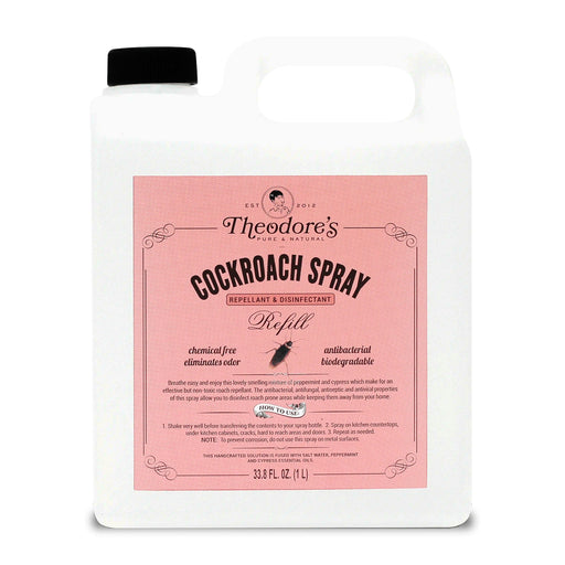 Theodore's Cockroach Spray Repellant & Disinfectant Refill Bottle 1L