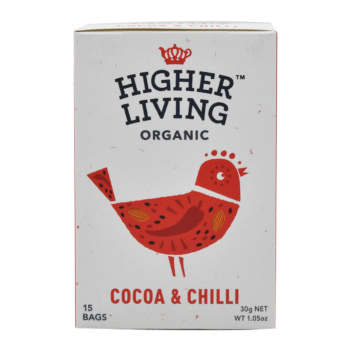 Higher Living Organic Cacao & Chilli (15 bags / 30g)
