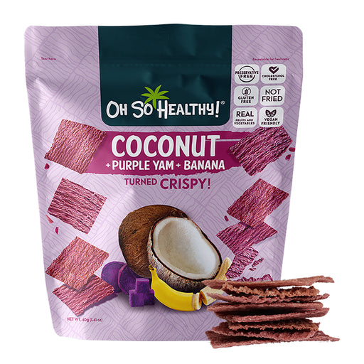 Oh So Healthy! Coconut Purple Yam Banana Crisps 40g