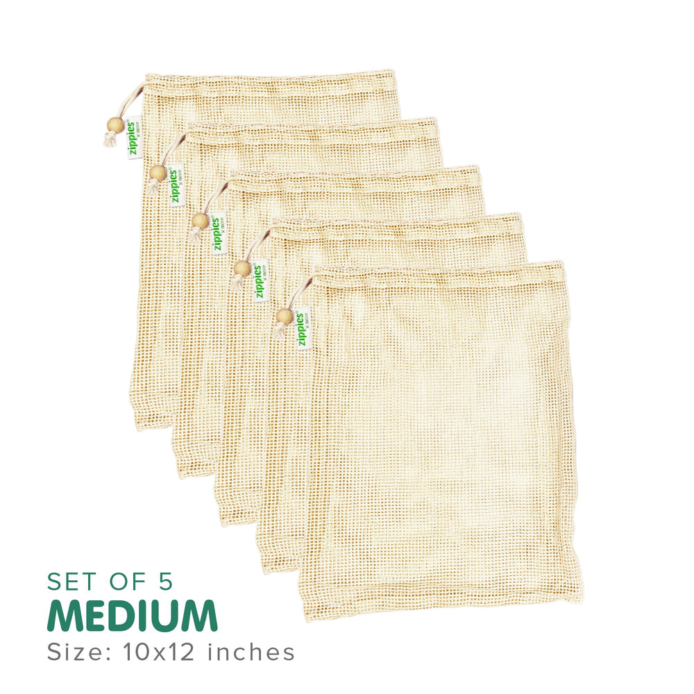 Zippies Cotton Mesh Produce Bags Medium