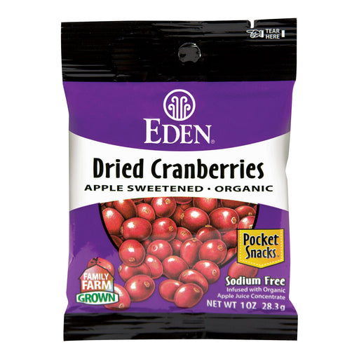 Eden Dried Dried Cranberries Pocket Snacks 28g
