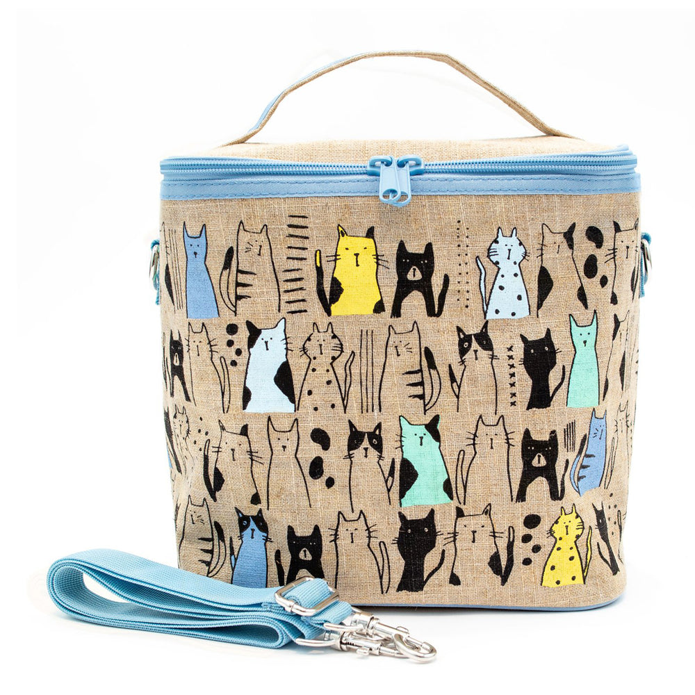 SoYoung Large Insulated Bag - Curious Cats
