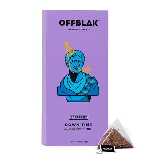 OFFBLAK Down Time - Blueberry & Mint Herbal Tea (12 tea temples)