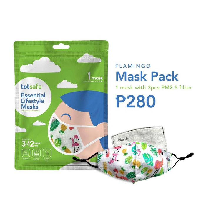Totsafe Flamingo Lifestyle Mask (1 Mask, 3 filters)