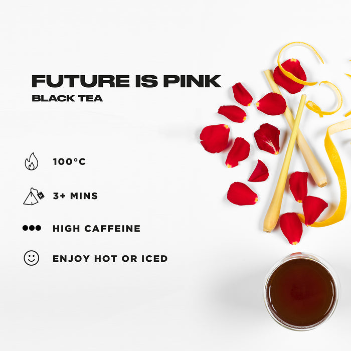 OFFBLAK Future Is Pink - Earl Grey & Rose Black Tea (12 tea temples)