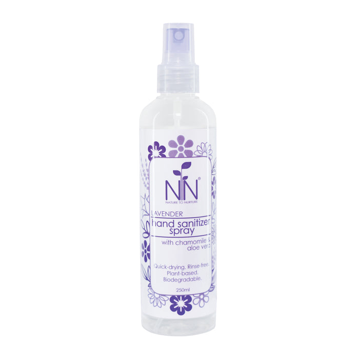 Nature To Nurture Hand Sanitizer Spray With Chamomile & Aloe Vera (Lavender) 250ml