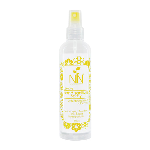 Nature To Nurture Hand Sanitizer Spray With Chamomile & Aloe Vera (Lemon) 250ml