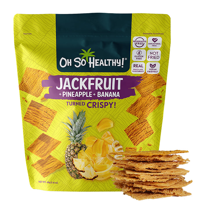 Oh So Healthy! Jackfruit Pineapple Banana Crisps 40g