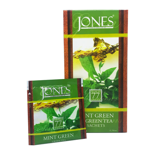 Jones Tea Organic Green Tea Mint (25x1.5g)