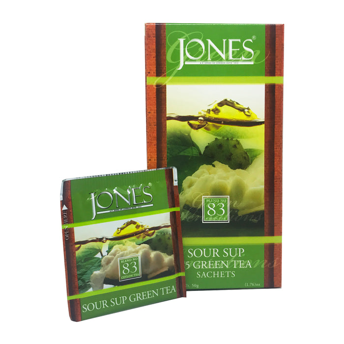 Jones Tea Green Tea Sour Sup (25x1.5g)