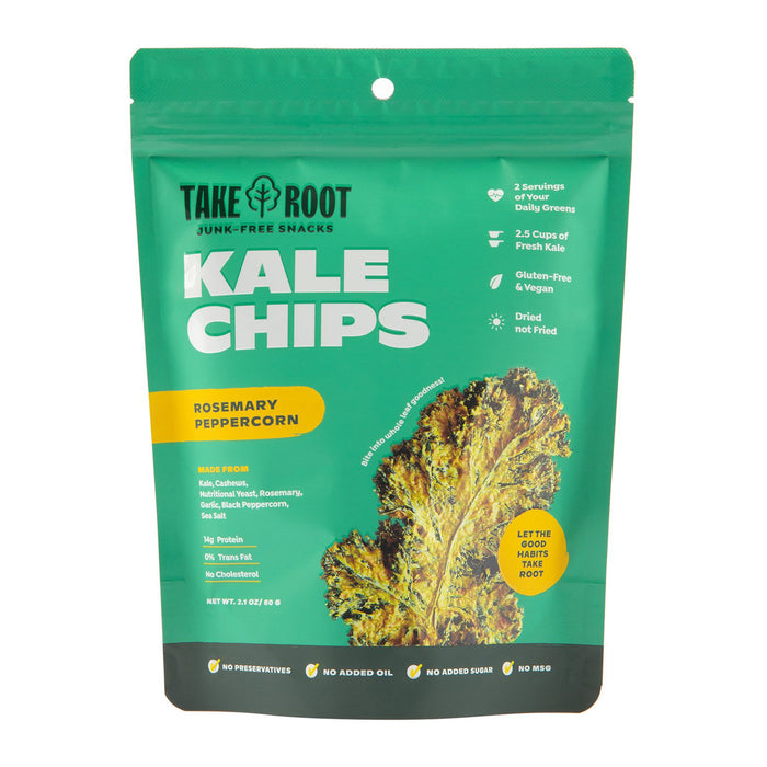 Take Root Rosemary Peppercorn Kale Chips 60g