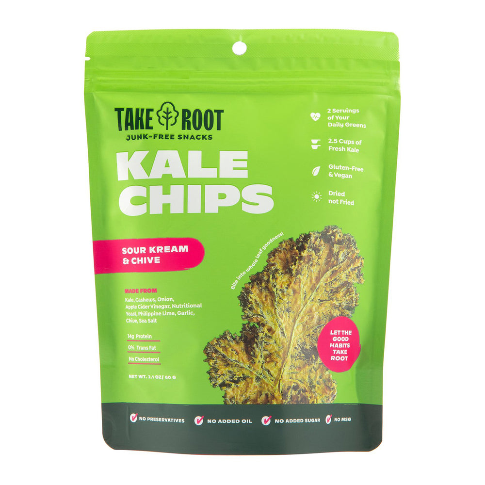 Take Root Sour Kream & Chive Kale Chips 60g