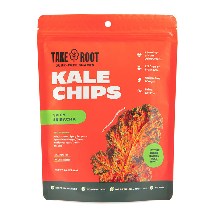 Take Root Spicy Sriracha Kale Chips 60g