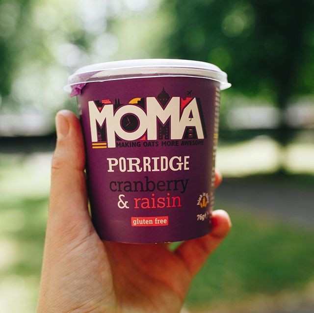 MOMA Cranberry & Raisin Instant Porridge Pots 70g
