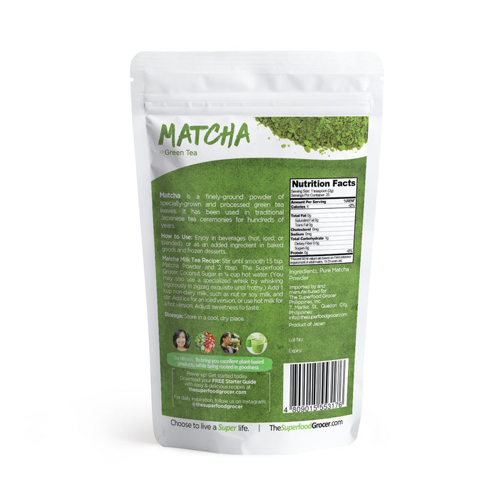 The Superfood Grocer Organic Matcha Powder 50g