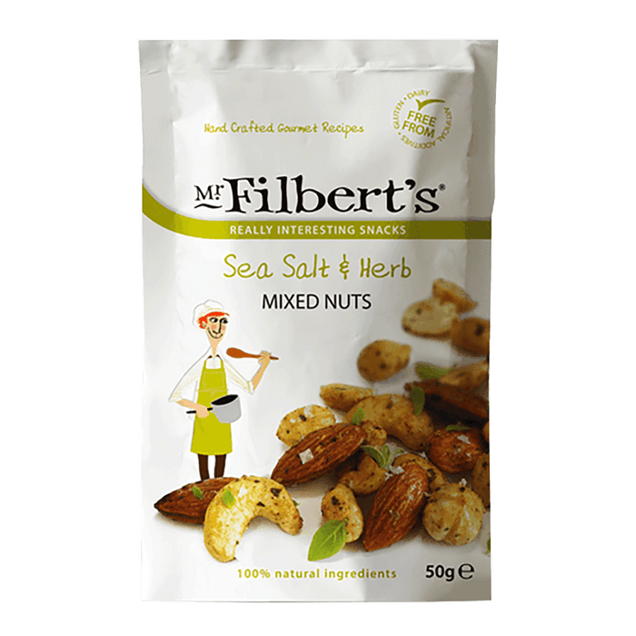 Mr Filbert's Sea Salt & Herb Mixed Nuts 50g