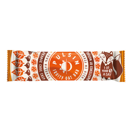 Pulsin Kids Orange Choc Chip Oat Bar 25g