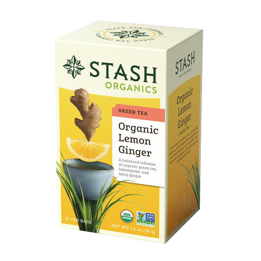 Stash Tea Organic Lemon Ginger Green Tea (18 bags)