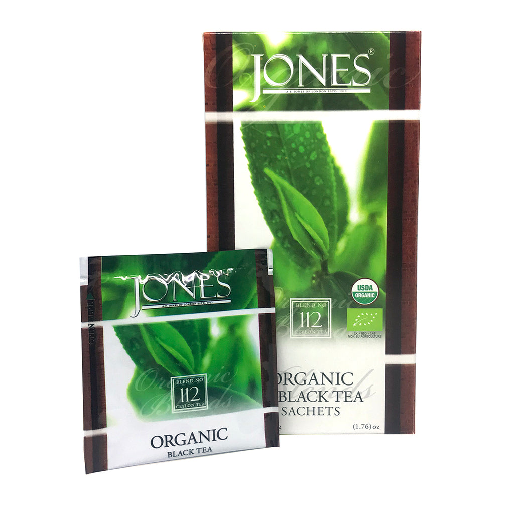 Jones Tea Organic Black Tea (25 x 1.5g)
