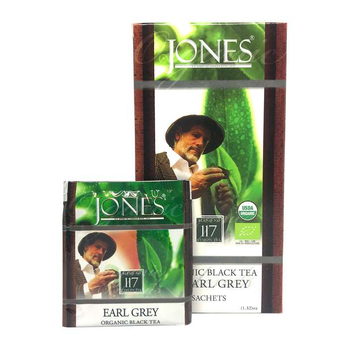Jones Tea Organic Black Tea Earl Grey (25 x 1.5g)
