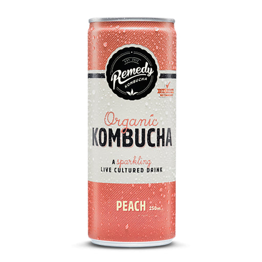 Remedy Kombucha Peach 250ml