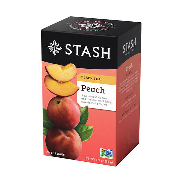 Stash Tea Peach Black Tea (20 bags)