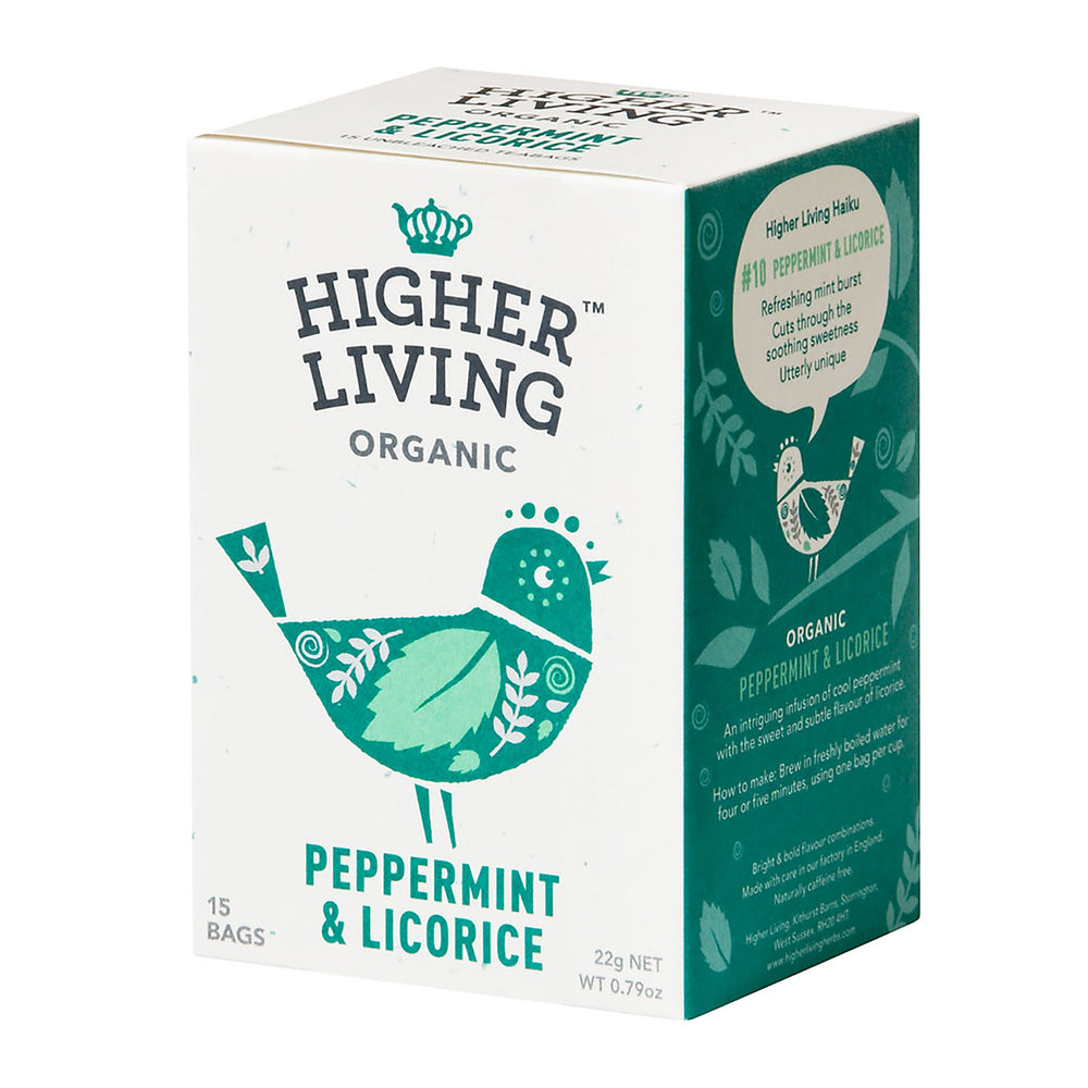 Higher Living Organic Peppermint & Licorice (15 bags / 22g)