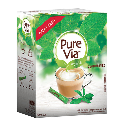 Pure Via Stevia (40 sticks)