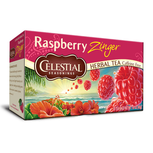 Celestial Seasonings Raspberry Zinger Herbal Tea (20 bags)